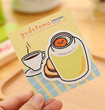 Gudetama Lazy Egg Self-Adhesive Memo Pad Sticky Notes - Kute Kico Kawaii Stationery