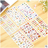 Cats Flowers Sticker - Kute Kico Kawaii Stationery