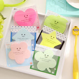 Colorful Star Heart Clover Memo Pad Sticky Notes - Kute Kico Kawaii Stationery