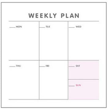 Weekly, Monthly, Check List Planning Goal Schedule Mini Memo Pad - Kute Kico Kawaii Stationery