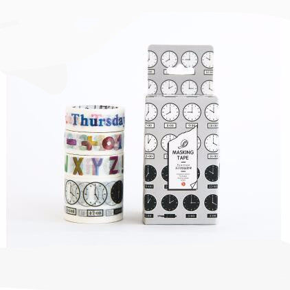 Daily Time ABC Tracker Decorative Washi Tape 4pcs/box