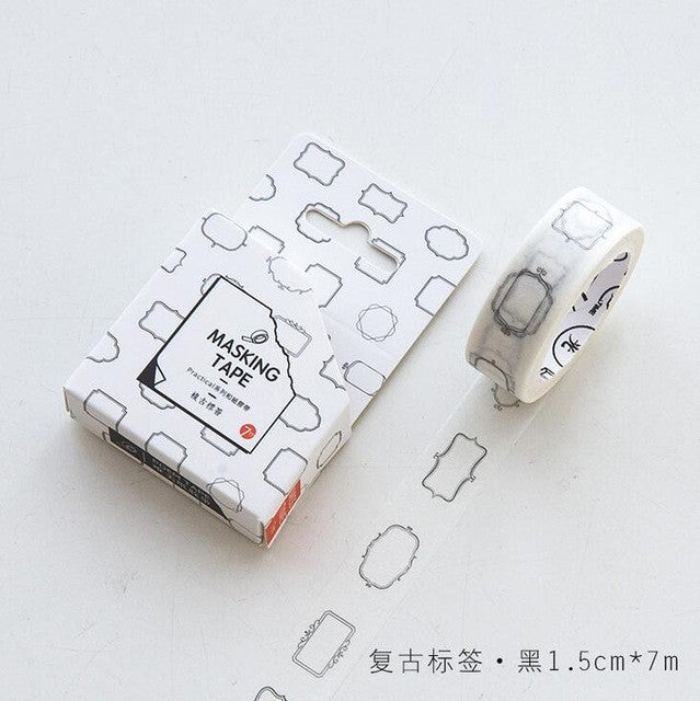 Functional Planner Washi Tape - Kute Kico Kawaii Stationery