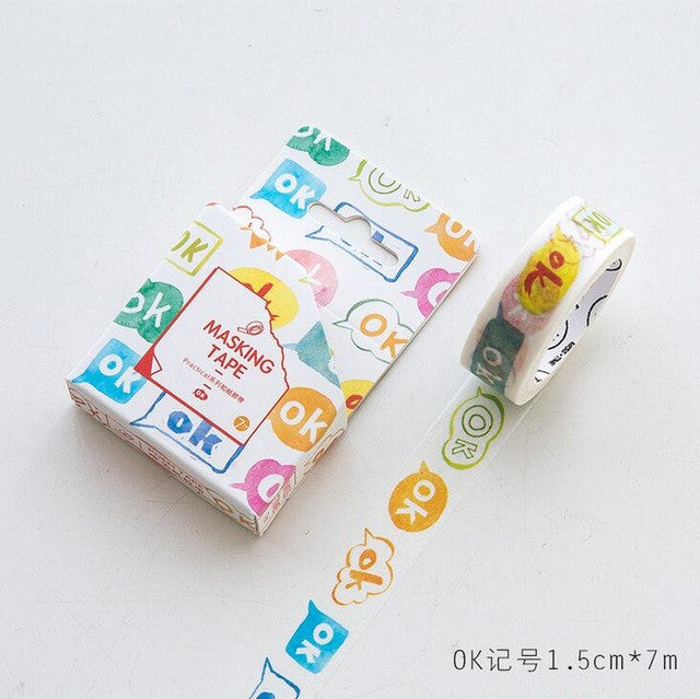 Okay Bubble Washi Tape - Kute Kico Kawaii Stationery