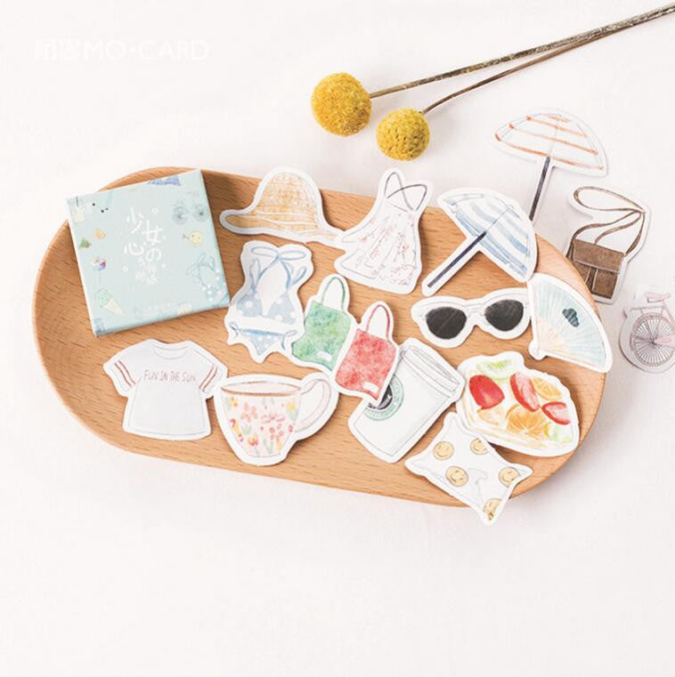 Summer Holiday Die Cut Ephemera Adhesive Sticker