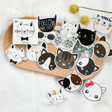 Adorable Cat Ephemera Die Cut Sticker 45pcs/pack - Kute Kico Kawaii Stationery