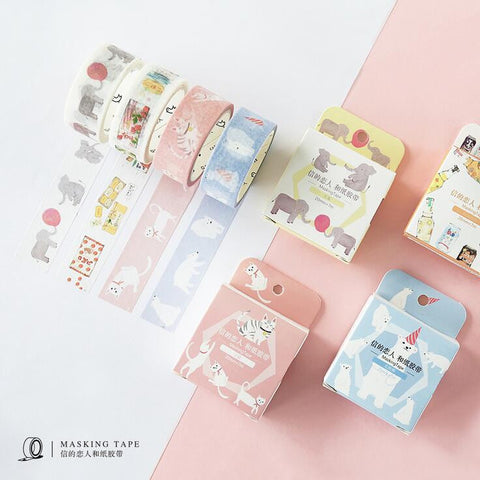 Animal Kingdom Washi Tape - Kute Kico Kawaii Stationery