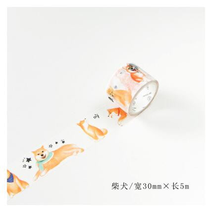 Pet Dog Washi Tape - Kute Kico Kawaii Stationery