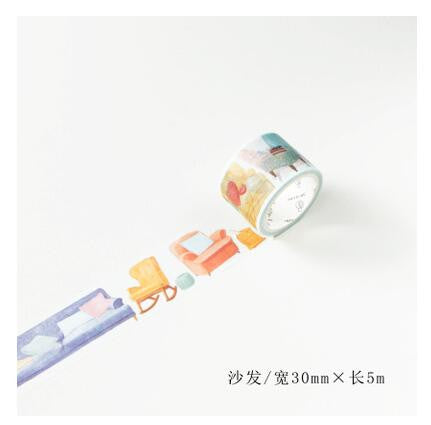 Sofa Chair Washi Tape - Kute Kico Kawaii Stationery