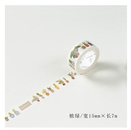 House Plant Washi Tape - Kute Kico Kawaii Stationery