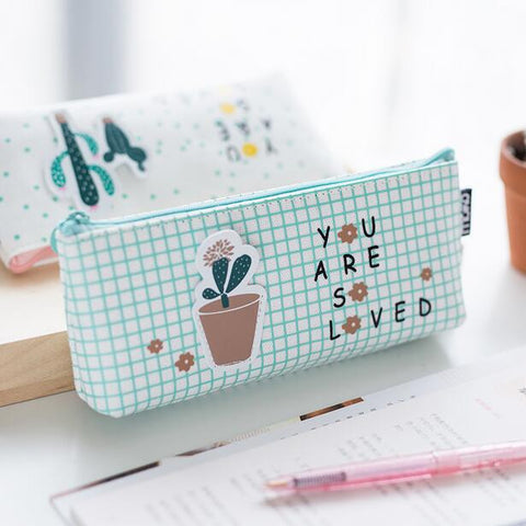 Cactus Plant Pencil Bag Storage - Kute Kico Kawaii Stationery