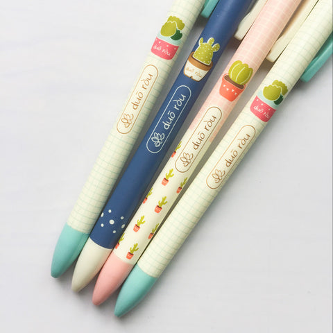 Cactus Mechanical Pencil Set of 4 - Kute Kico Kawaii Stationery