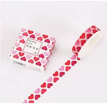 Heart Pattern Washi Tape - Kute Kico Kawaii Stationery