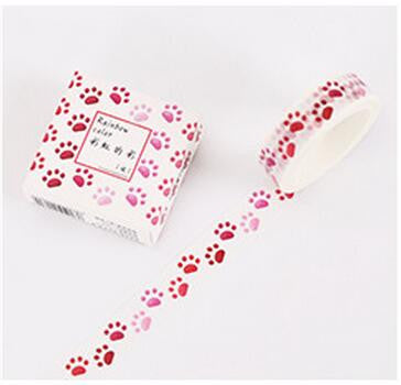 Animal Paw Pattern Washi Tape - Kute Kico Kawaii Stationery