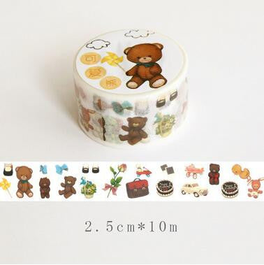 Bear Washi Tape - Kute Kico Kawaii Stationery