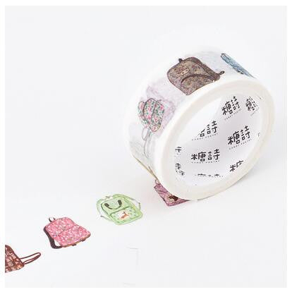 Backpack Flower Bunny Washi Tape - Kute Kico Kawaii Stationery