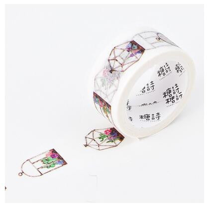 Floral Terrarium Washi Tape - Kute Kico Kawaii Stationery