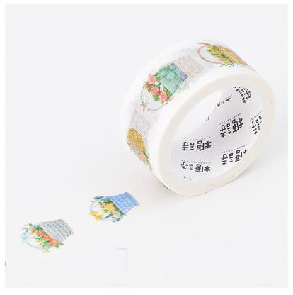 Floral Basket Washi Tape - Kute Kico Kawaii Stationery