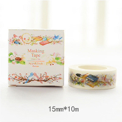 Bird Washi Tape - Kute Kico Kawaii Stationery