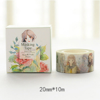 Girl Washi Tape - Kute Kico Kawaii Stationery