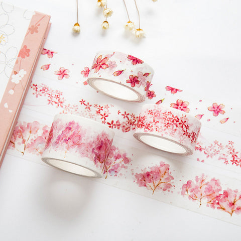 Sakura Blossoms Washi Tape - Kute Kico Kawaii Stationery