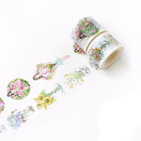 Flower Girl Washi Tape - Kute Kico Kawaii Stationery