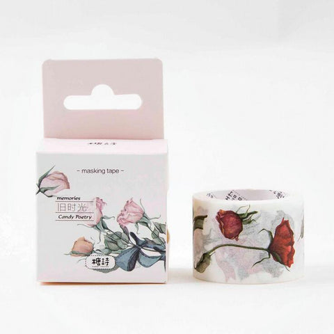 Vintage Rose Flowers Washi Tape