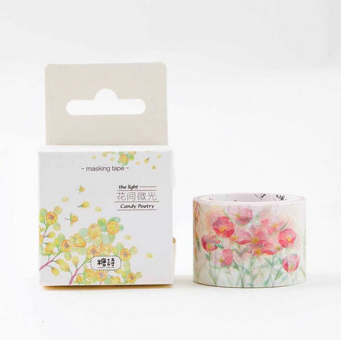 Surprise Flowers Washi Tape - Kute Kico Kawaii Stationery