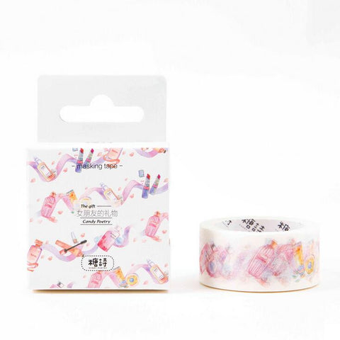 Beauty Makeup Product Washi Tape - Kute Kico Kawaii Stationery