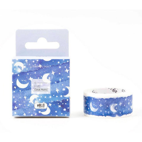 Good Night Moonlit Washi Tape - Kute Kico Kawaii Stationery