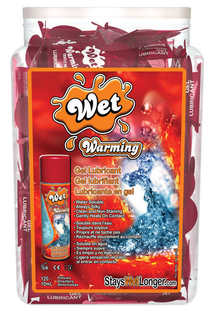 WET WARMING LUBRICANT FISHBOWL 120PCS