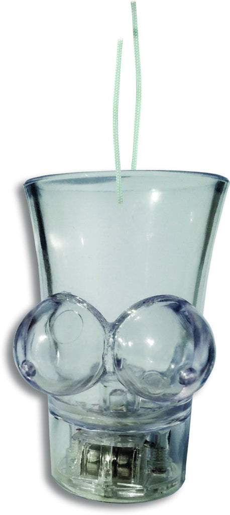 LIGHT UP BOOBIE SHOT GLASS W/STRING