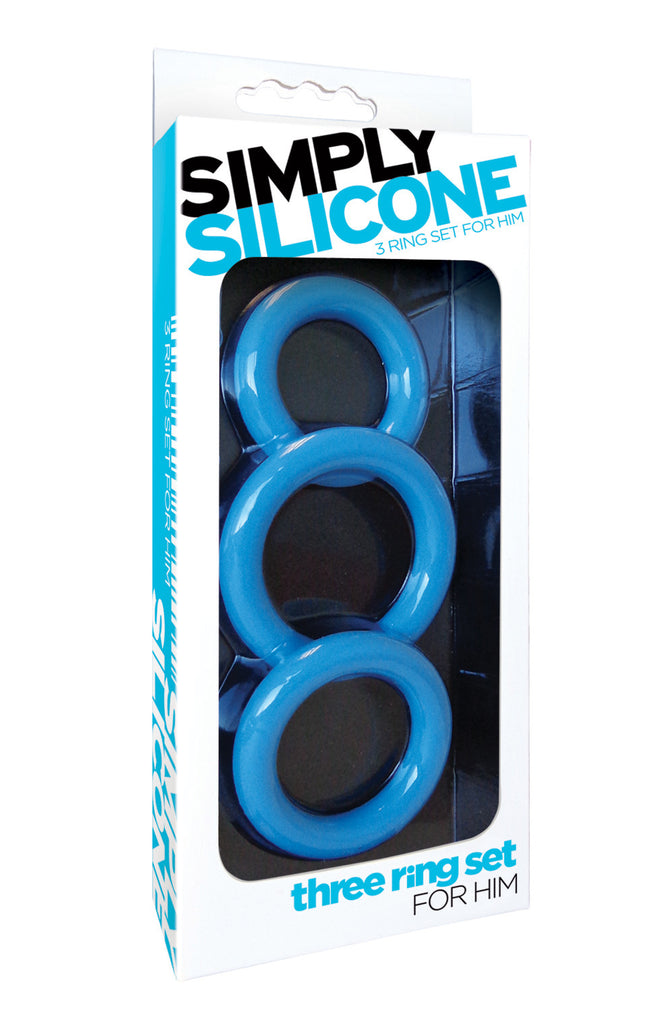 SIMPLY SILICONE COCKRING TRIO SKY BLUE