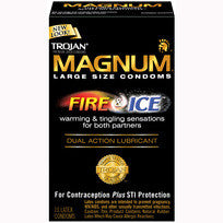 TROJAN MAGNUM FIRE and ICE 10 PACK
