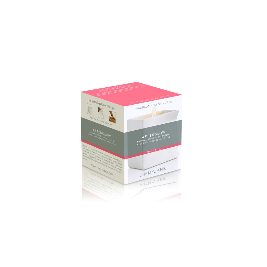 JIMMY JANE AFTERGLOW CANDLE PINK LOTUS MASSAGE OIL