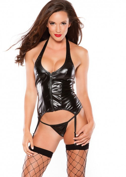 KITTEN HALTER CORSET - Sex Toy Factory - Allure Lingerie - 1
