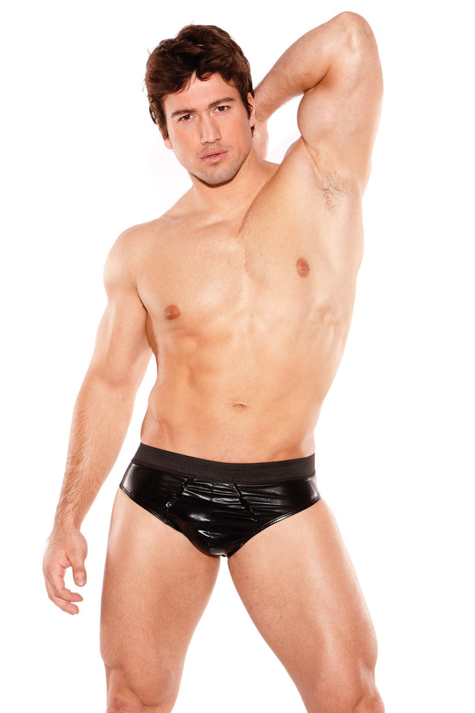 ZEUS WET LOOK BRIEF O/S  MENS