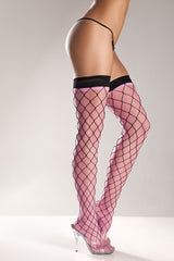 SPANDEX NET THIGH HIGH - Sex Toy Factory - Bewicked Lingerie