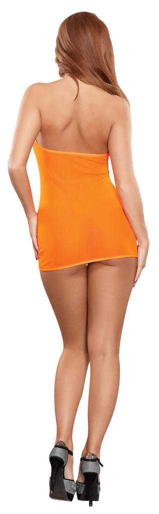 MESH TUBE DRESS and G-STRING ORANGE O/S NEON ACCESSORY