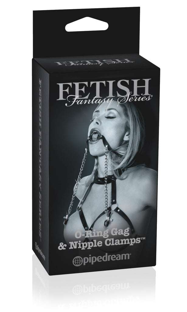 FETISH FANTASY LIMITED EDITION O RING BALL GAG and NIPPL