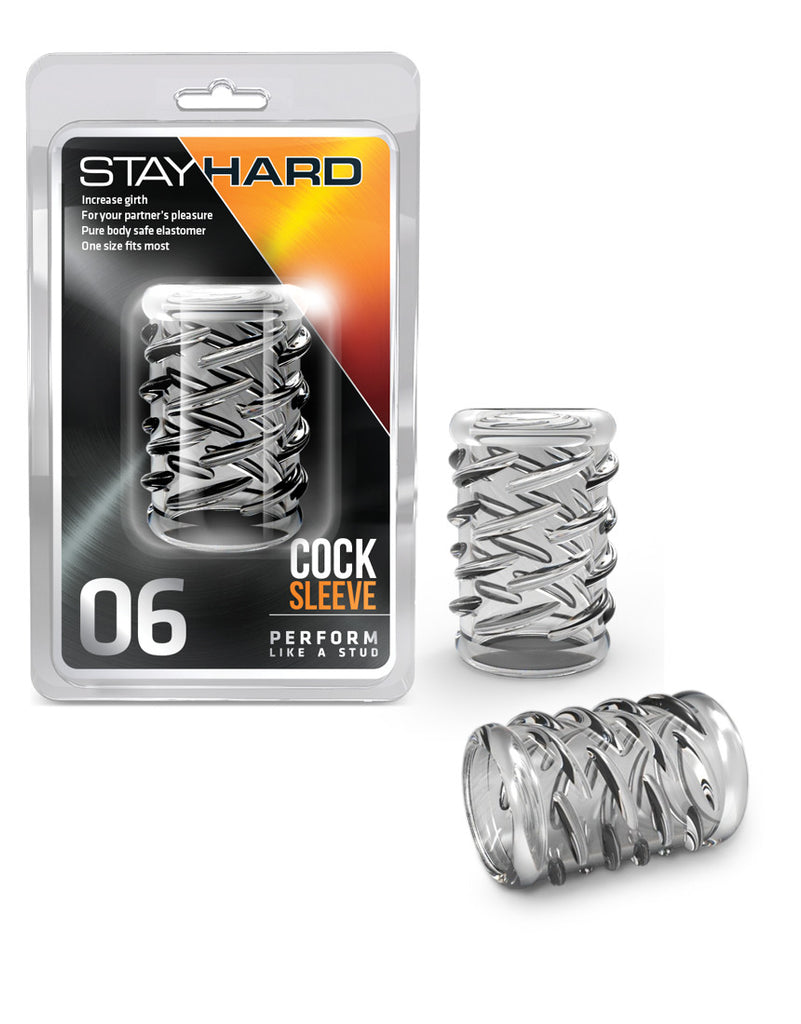 STAY HARD COCK SLEEVE 06 CLEAR