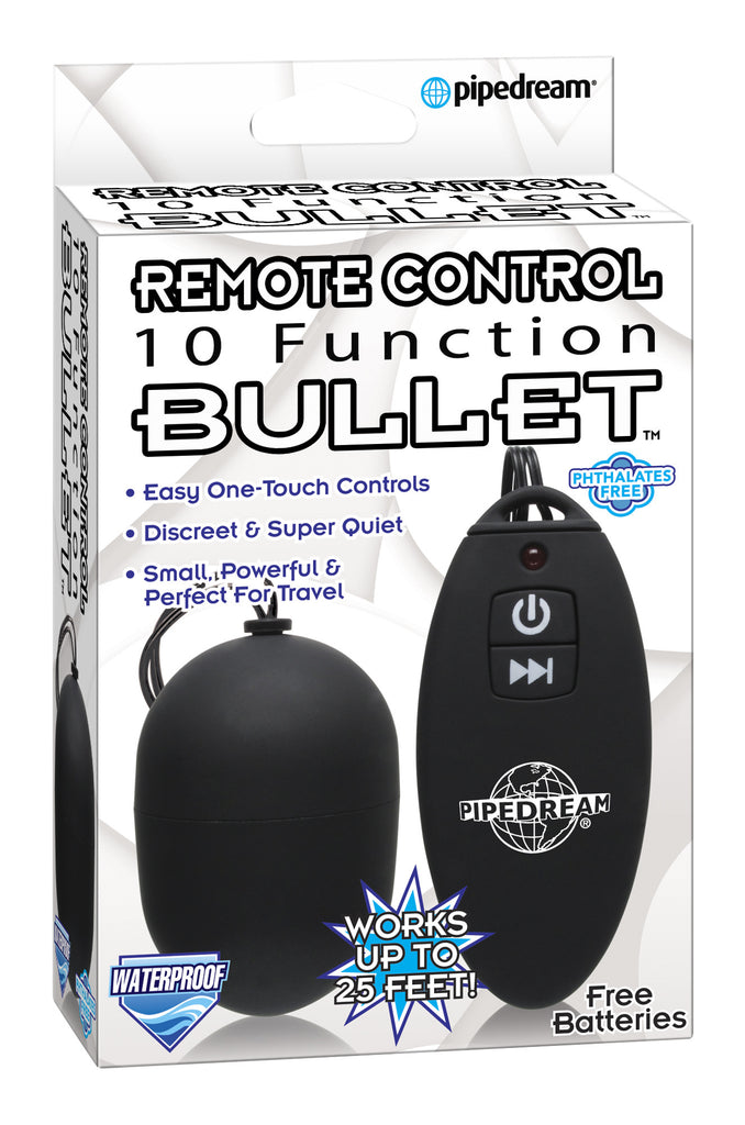 10 FUNCTION REMOTE CONTROL BULLET BLACK 10 FUNCTION