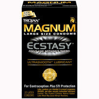 TROJAN MAGNUM ECSTASY ULTRASMOOTH LUBRICATED 10PK