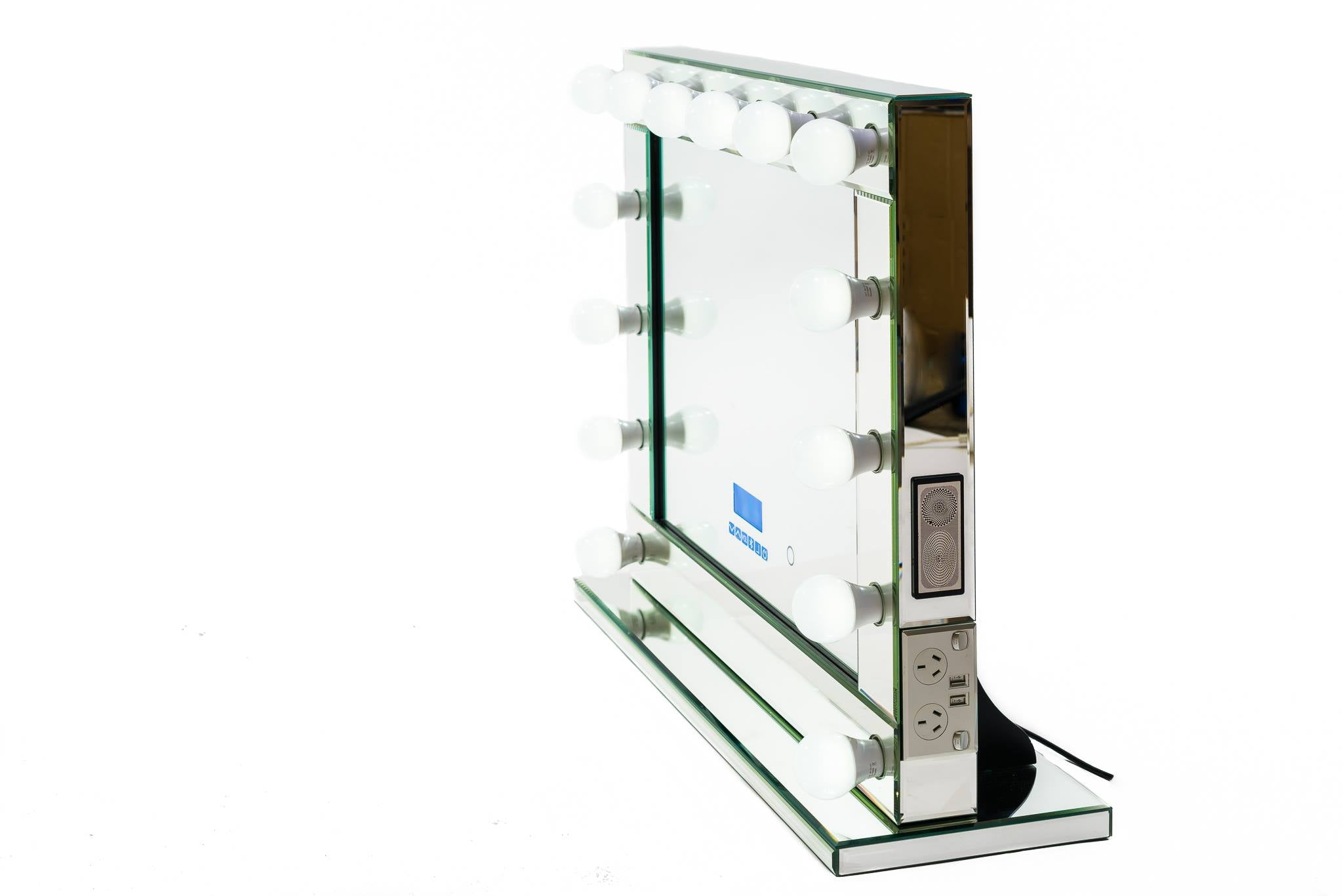 Hollywood Mirror Extra Large with Bluetooth Speakers, Sensor Dimmer,USB,Power Points-LIMITED STOCK LEFT