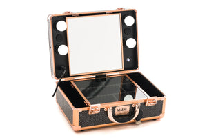 Makeup Station-XOXOXO ROSE GOLD & BLACK WITH GLAMOROUS GLITTER-SAME DAY SHIPPING VERY LIMITED STOCK