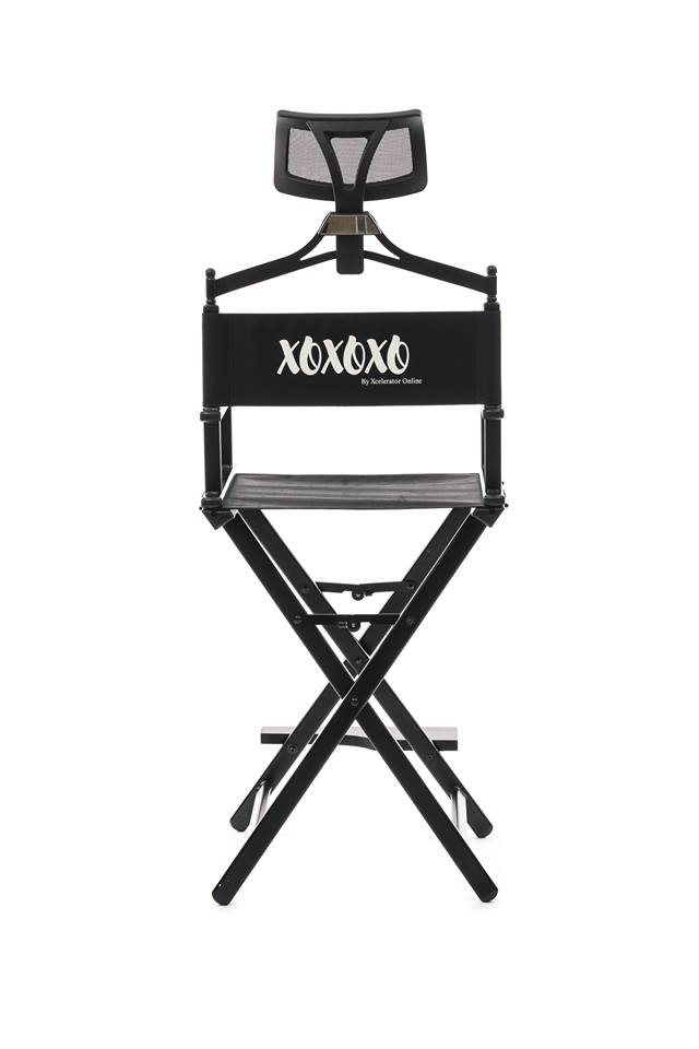 Makeup Chair With Headrest-XOXOXO BLACK- PRE ORDER FOR DECEMBER SHIPPING