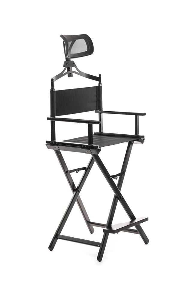 Makeup Chair With Headrest-XOXOXO BLACK - IN STOCK