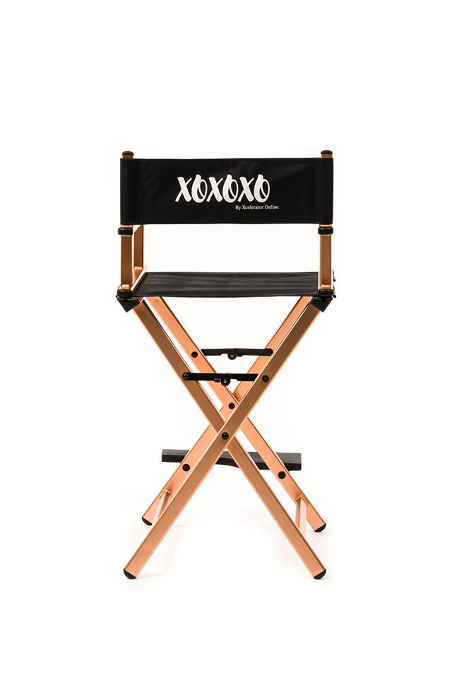 Makeup Chair-XOXOXO ROSE GOLD