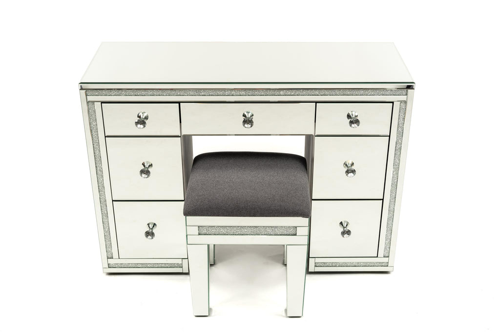 Crystal Frame Vanity With Crystal Stool Package - BRISBANE PICKUP ONLY
