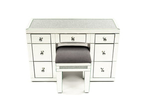 Crystal Top Vanity with Crystal Stool Package  - BRISBANE PICKUP ONLY