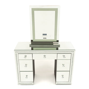 Vanity Station 2 pieces-Crystal Frame Vanity Table & Makeup Mirror XL Tall with  Tri -temperature - BRISBANE PICKUP ONLY-IN STOCK